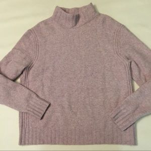 J. Crew lavender mock neck wool blend sweater XL